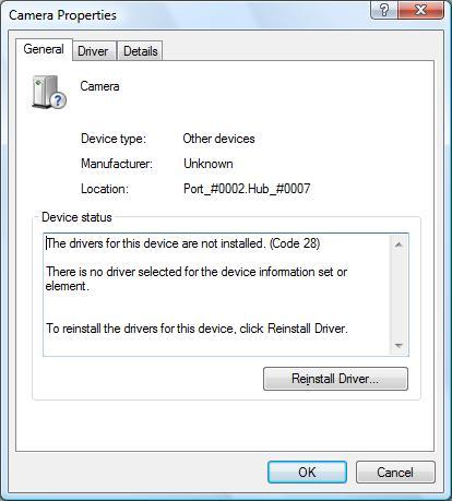 Device error code 28
