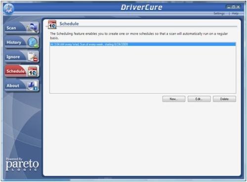 DriverCure Schedule